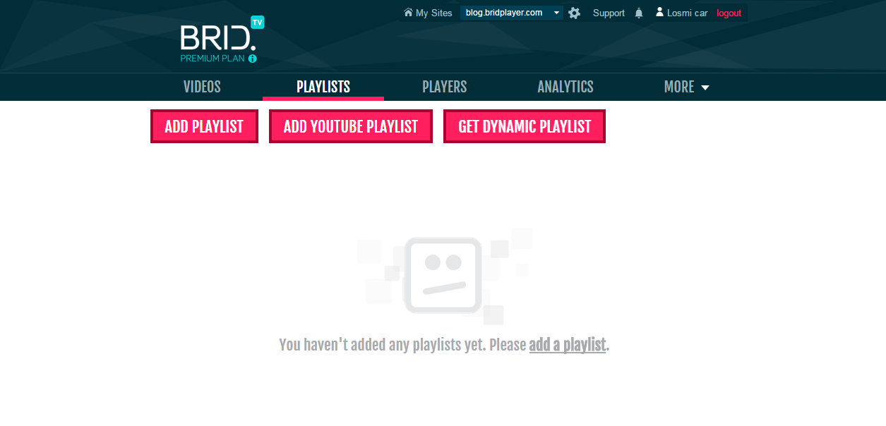 Create And Manage Your Video Playlists via Brid tv